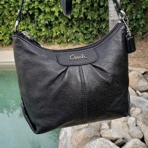 Coach authentic EUC black leather crossbody bag